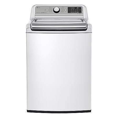 LG - 5.2 cu. ft. Mega-Capacity Top-Load Washer with Turbowash Technology - WT7500CW White