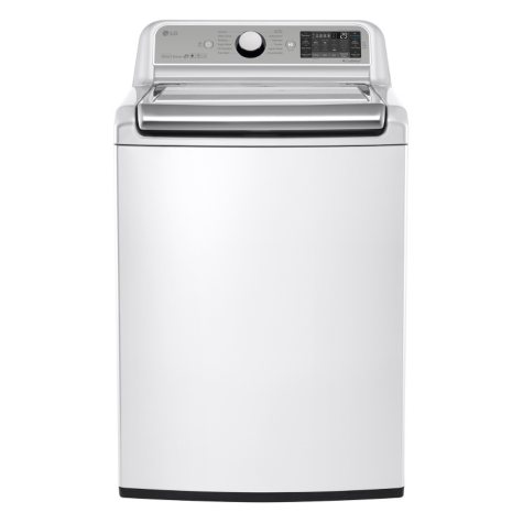 LG 5.2 cu. ft. Mega-Capacity Top-Load Washer with Turbowash Technology - WT7500CW White