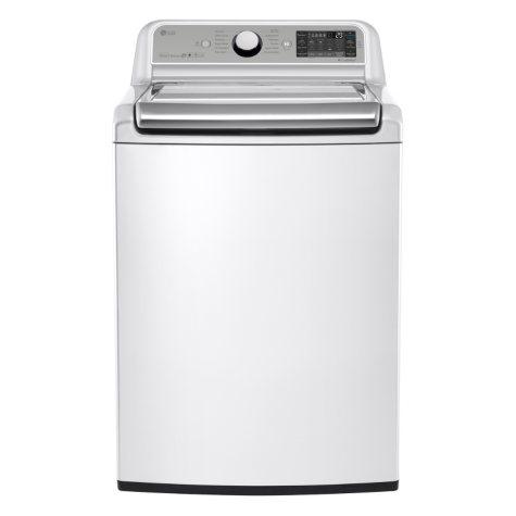LG - 5.2 cu. ft. Mega-Capacity Top-Load Washer with Turbowash Technology - WT7500CW White