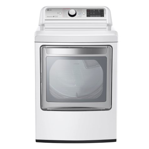 LG 7.3 cu. ft. Ultra-Large Capacity TurboSteam Electric Dryer with LG EasyLoad Door - DLEX7600WE White