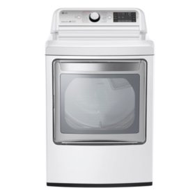 LG 7.3 cu. ft. Ultra-Large Capacity TurboSteam Gas Dryer with LG EasyLoad Door - DLGX7601WE White