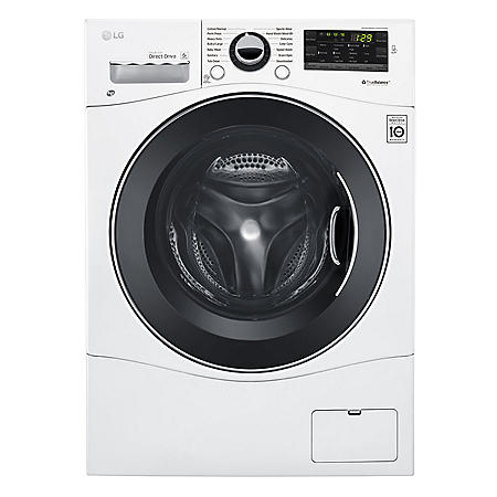 """LG - WM1388HW - 2.3 Cu Ft Capacity 24"""" Compact Front Load Washer w/ NFC Tag On - White"""