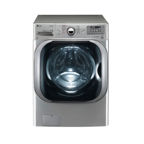 LG - 5.2 cu. ft. Mega-Capacity TurboWash Washer with Steam Technology - WM8100HVA Graphite Steel