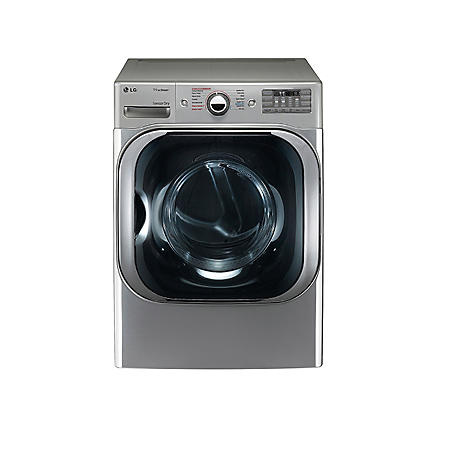 LG - 9.0 cu. ft. Mega-Capacity Electric Dryer with Steam Technology - DLX8100V Graphite Steel - (CHOOSE: Fuel Type)
