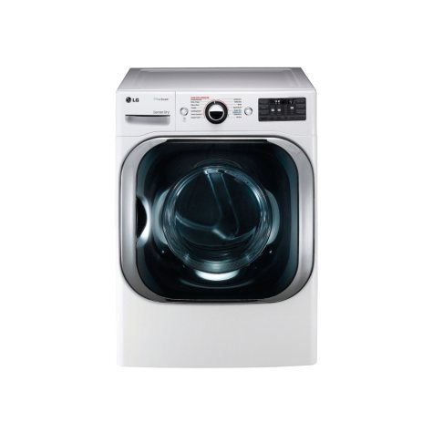 LG 9.0 cu. ft. Mega-Capacity Gas Dryer with Steam Technology - DLGX8101W White