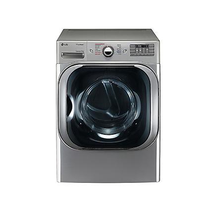 LG - 9.0 cu. ft. Mega-Capacity Gas Dryer with Steam Technology - DLGX8101V Graphite Steel