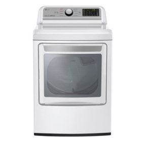 LG 7.3 Cu. Ft. EasyLoad Door Electric Dryer, White