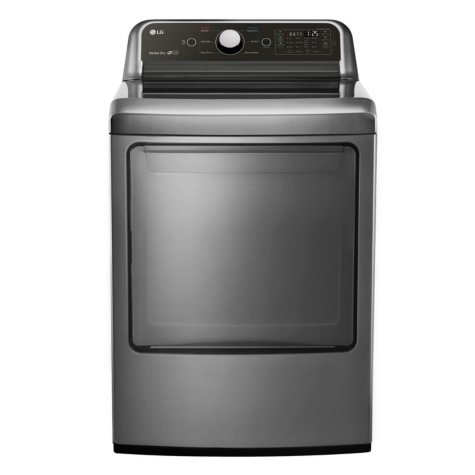 LG - DLG7051V - 7.3 cu ft Super Capacity GAS Dryer, Graphite