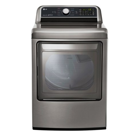 LG - DLE7200VE - 7.3 cu ft EasyLoad Door Electric Dryer, Graphite