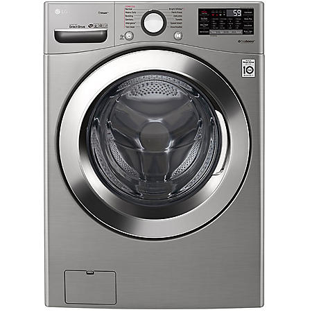 LG - WM3700HVA - 4.5 cu ft Ultra Large Capacity Smart Wi-Fi Enabled STEAM Front Load Washer - Graphite