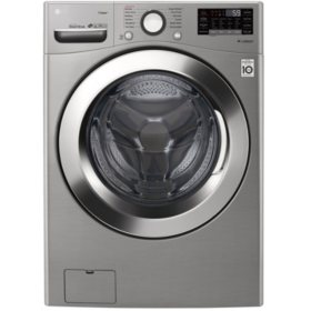 LG WM3700HVA - 4.5 cu ft Ultra Large Capacity Smart Wi-Fi Enabled STEAM Front Load Washer - Graphite