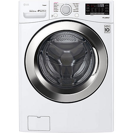 LG - WM3700HWA - 4.5 cu ft Ultra Large Capacity Smart Wi-Fi Enabled STEAM Front Load Washer - White