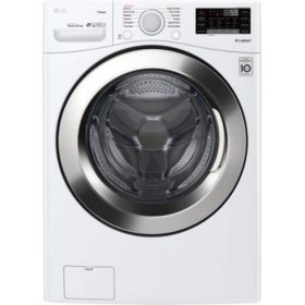 LG WM3700HWA - 4.5 cu ft Ultra Large Capacity Smart Wi-Fi Enabled STEAM Front Load Washer - White