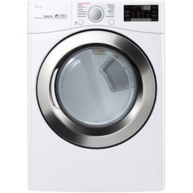 LG DLGX3701W - 7.4 cu ft Ultra Large Capacity Smart Wi-Fi Enabled SteamDryer (GAS) - White