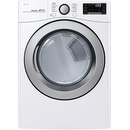 LG - DLE3500W - 7.4 cu ft Ultra Large Capacity Smart Wi-Fi Enabled Electric Dryer - White