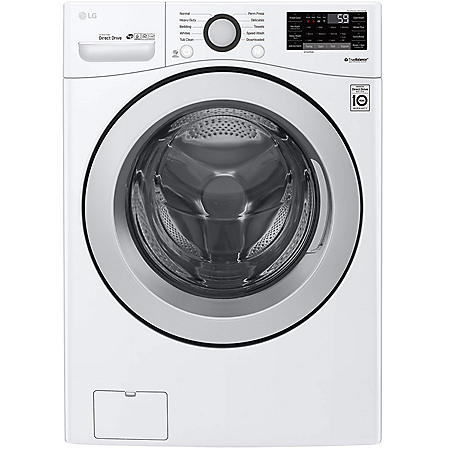 LG - WM3500CW - 4.5 cu ft Ultra Large Smart Wi-Fi Enabled Front Load Washer - White