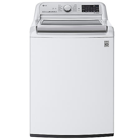LG 5.5 cu. ft. Top Load Washer with TurboWash3D in White
