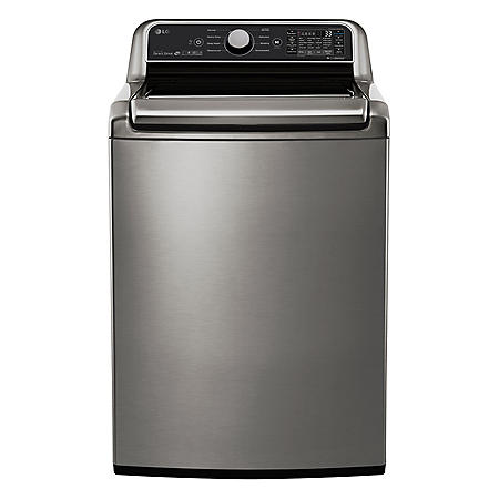 LG - WT7300CV - 5.0 Cu Ft Capacity Top Load Smart Wi-Fi Enabled Washer with TurboWash3D - Graphite