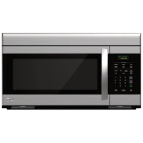 LG 1.6 cu. ft. Non-Sensor Over-the-Range Microwave Oven - LMV1683ST Stainless Steel