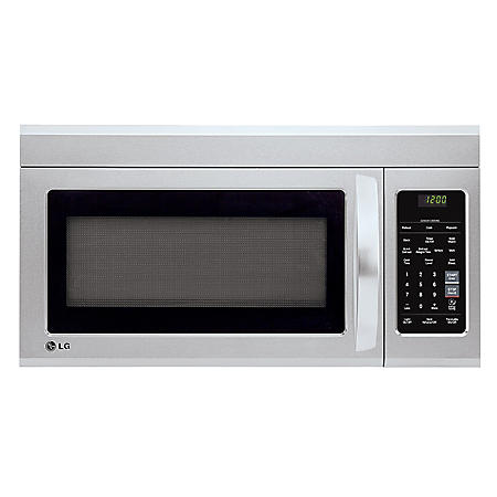 LG - 1.8 cu.ft. Over-the-Range Microwave Oven - LMV1831ST Stainless Steel