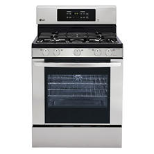LG 5.4 cu.ft. Freestanding Gas Oven - LRG3081ST Stainless Steel