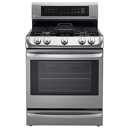 LG 6.3 cu. ft. Single Oven Gas Range with ProBake Convection