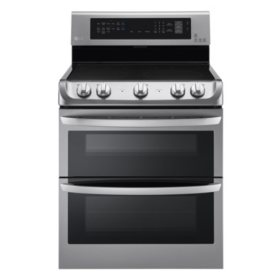 LG 7.3 cu. ft. Electric Double-Oven Range with ProBake Convection, EasyClean and Infrared Grill System LDE4415ST Stainless-Steel