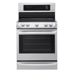 LG 6.3 cu. ft. Electric Single-Oven Range with ProBake Convection and EasyClean LRE4213ST Stainless Steel