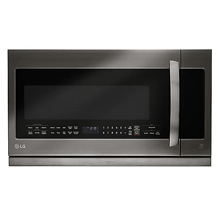 LG - Black Stainless Steel Series 2.2 cu.ft. Over-the-Range Microwave Oven - LMHM2237BD Black Stainless Steel