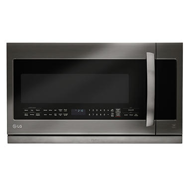 LG Black Stainless Steel Series 2.2 cu.ft. Over-the-Range Microwave Oven - LMHM2237BD Black Stainless Steel
