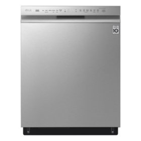 LG - LDF5678ST - Front Control Wi-Fi Enabled Dishwasher with QuadWash - Stainless Steel