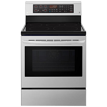 LG - LRE3194ST - 6.3 cu ft Electric Single Oven Range w/ True Convection and Easy Clean - Stainless Steel