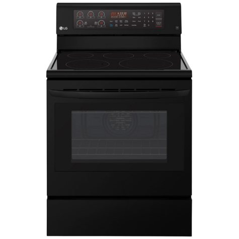 LG LRE3193SB - 6.3 cu ft Electric Single Oven Range w/ True Convection and Easy Clean - Black