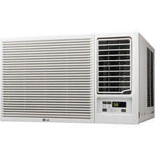 LG 7,500 BTU 115V Window-Mounted Air Conditioner with 3,850 BTU Supplemental Heat Function