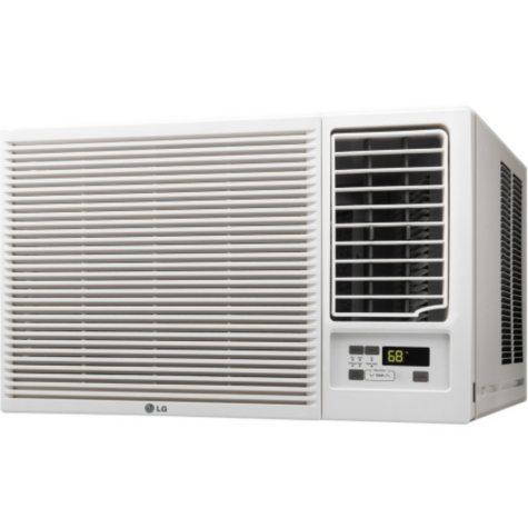 LG 7,500 BTU 115V Window-Mounted Air Conditioner with 3,850 BTU Supplemental Heat Function