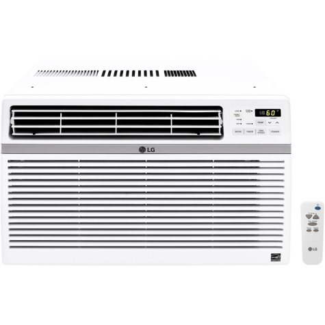 LG 12,000 BTU 115V Window-Mounted Air Conditioner with Remote Control
