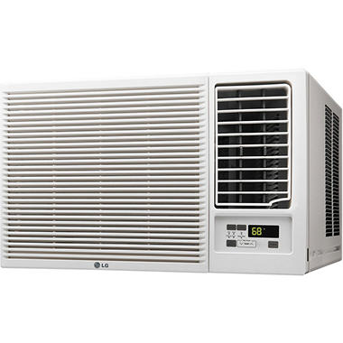 LG LW2416HR 23,000 BTU 230V Window-Mounted Air Conditioner with 11,600 BTU Supplemental Heat Function