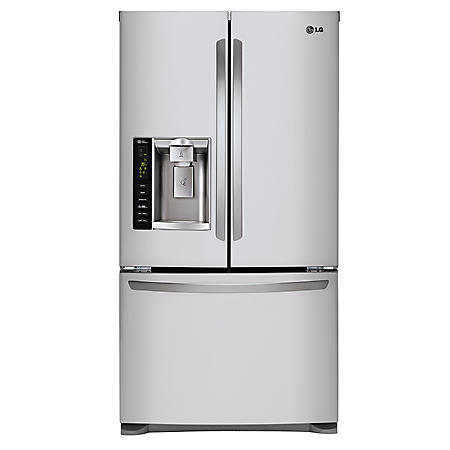 LG - 24 cu. ft. Ultra-Capacity 3-Door French Door Refrigerator with Dual Ice Makers - LFX25973ST Stainless Steel