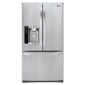 LG 27 cu. ft. Ultra-Capacity 3-Door French Door Refrigerator with Smart Cooling - LFX28968ST Stainless Steel