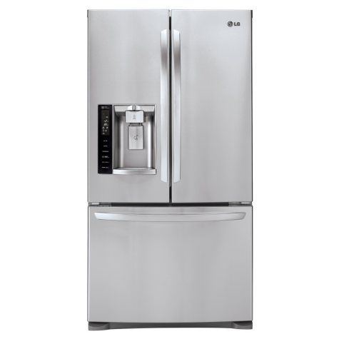 LG - 27 cu. ft. Ultra-Capacity 3-Door French Door Refrigerator with Smart Cooling - LFX28968ST Stainless Steel