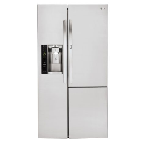 LG - 26 cu. ft. Side-by-Side Refrigerator - LSXS26366S Stainless Steel