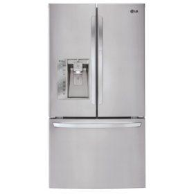 LG 29 cu. ft. Ultra-Capacity 3-Door French Door Refrigerator, LFXS29766S Stainless Steel