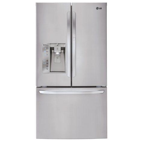 LG - 29 cu. ft. Ultra-Capacity 3-Door French Door Refrigerator, LFXS29766S Stainless Steel