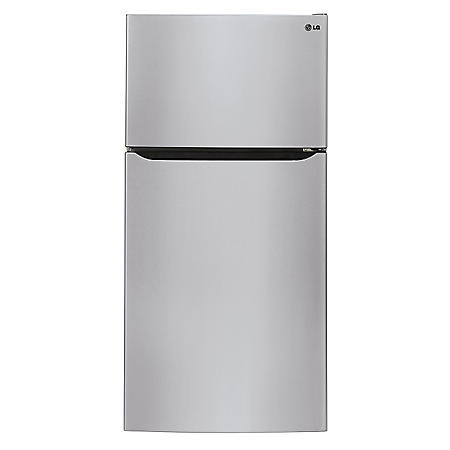 "LG - 24 cu. ft. Large-Capacity 33"" Wide Top-Mount Refrigerator - LTCS24223S Stainless Steel"