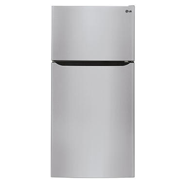 "LG 24 cu. ft. Large-Capacity 33"" Wide Top-Mount Refrigerator - LTCS24223S Stainless Steel"