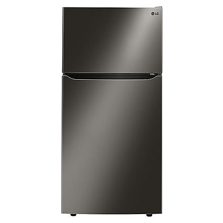 "LG - 24 cu. ft. Large-Capacity 33"" Wide Refrigerator with Top-Mount Freezer - LTCS24223D, Black Stainless-Steel"