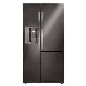 LG 26 cu. ft. Side-by-Side Refrigerator with Door-in-Door - LSXS26366D Black Stainless Steel