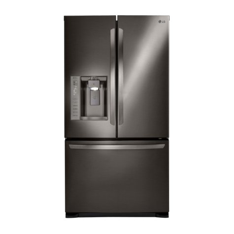 LG 24 cu. ft. Ultra-Capacity 3-Door French Door Refrigerator with Dual Ice Makers - LFX25973D Black Stainless Steel