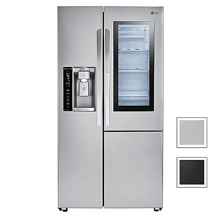 LG 22 cu. ft. Side-by-Side Counter Depth Refrigerator with InstaView