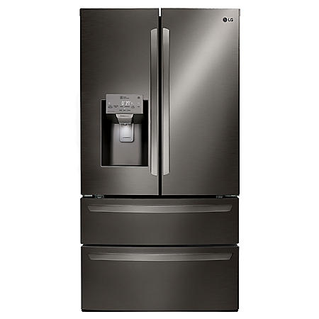 LG - LMXS28626D - 28 cu ft Ultra Large Capacity 4-Door French Door Refrigerator, Black Stainless Steel